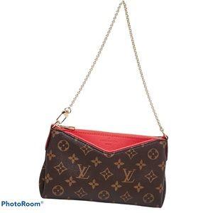 Monogram Red Fashion Pallas clutch crossbody